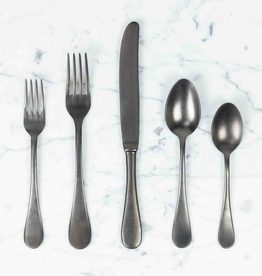 Mepra PREORDER Italian Vintage Style 5 Piece Place Setting - Vintage Nero