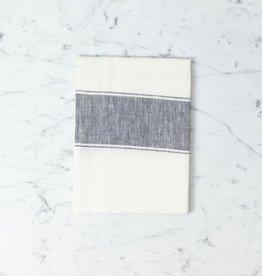 Libeco Home Belgian Linen Ajaccio Tea Towel - Black Grey