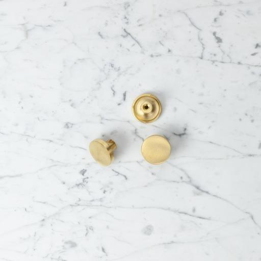 Nordstjerne Danish Matte Brass Coat Hook - Small - 1.5 in