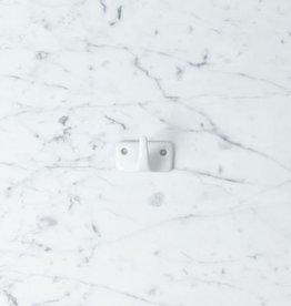Zangra Hook Porcelain - White - Single