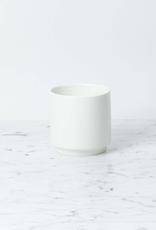 "Belgian Porcelain Squat Vase - White - 4"" x 4"""