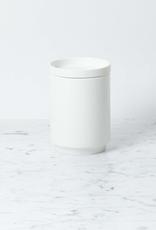 """Zangra Belgian Porcelain Medium Vase - White - 5"""" x 4"""""""