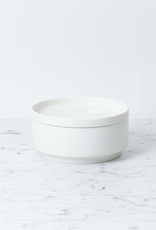 """Zangra Belgian Porcelain Bowl - Medium - White - 6"""""""