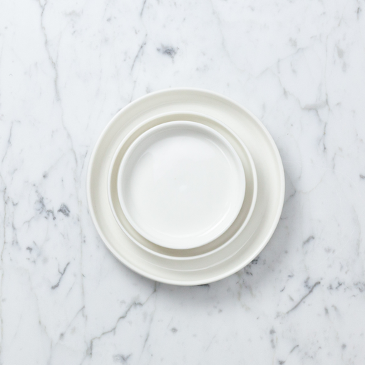 "Belgian Porcelain Medium Dish - White - 4"""