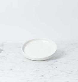 """Zangra Belgian Porcelain Side Plate - White - 6"""""""