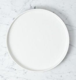 Belgian Porcelain Dinner Plate - White - 9 1/2""