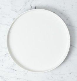 """Zangra Belgian Porcelain Dinner Plate - White - 9 1/2"""""""