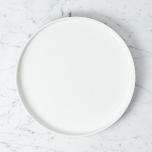 """Belgian Porcelain Dinner Plate - White - 9 1/2"""""""