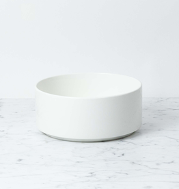 "Belgian Porcelain Serving Bowl - White - 8 1/3"" x 3 1/2"""