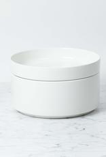 "Belgian Porcelain Serving Bowl - White - 8 1/3"" x 3 1/2"""