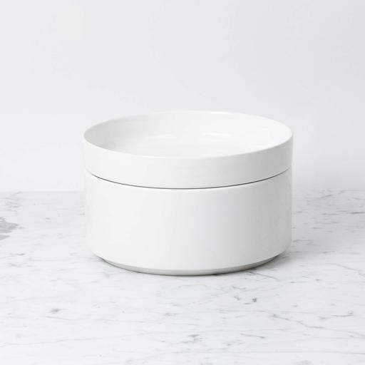 "Zangra Belgian Porcelain Serving Bowl - White - 8 1/3"" x 3 1/2"""