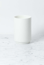 """Belgian Porcelain Tall Vase - White - 6"""""""