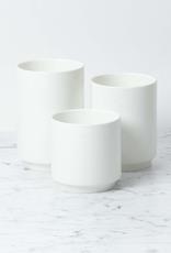 """Zangra Belgian Porcelain Tall Vase - White - 6"""""""
