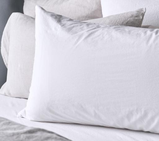 "Matteo Home Lawn Combed Cotton Queen Pillowcase - White - 20"" x 33"""