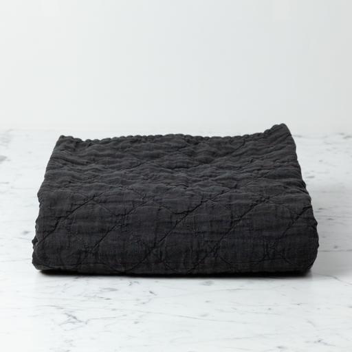 """Ida Vintage Linen Baby Comforter - Earth - 36"""" x 50"""