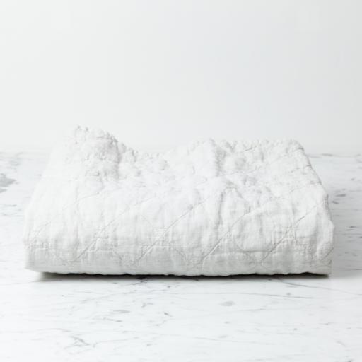 """Ida Vintage Linen Baby Comforter - Greige - 36"""" x 50"""