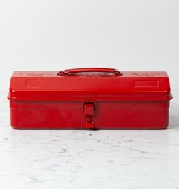 Japanese Steel Tool Box - Medium with Latch - Red - 14""