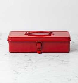 Japanese Steel Tool Box - Small - Red - 13 x 5.5