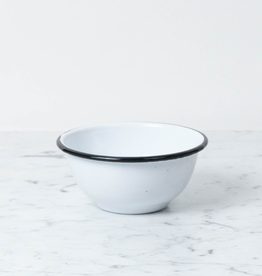 Zangra Enamel Bowl - White - Small - 5""