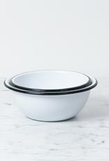 """Zangra Enamel Bowl - White - Small - 5"""""""