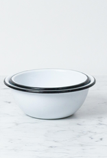 Zangra Enamel Bowl - White - Medium - 6""