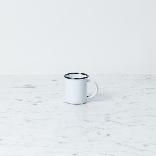 """Zangra Enamel Mug - White - Tiny - 1 1/2"""""""