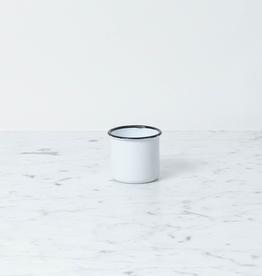 "Zangra Enamel Mug - White - Small - 2"""