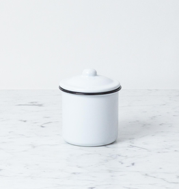 "Enamel Storage Jar with Lid - Small - 3"" x 4"""
