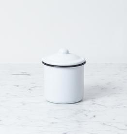 """Zangra Enamel Storage Jar with Lid - Small - 3"""" x 4"""""""