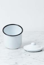 """Enamel Storage Jar with Lid - Small - 3"""" x 4"""""""