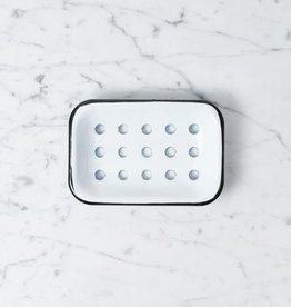Zangra Enamel Soap Dish - White