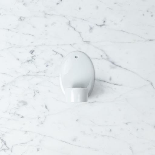 Belgian Porcelain Wall Mounted Tea Light Holder - White