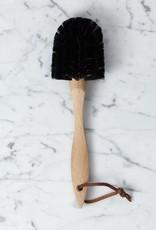"Burstenhaus Redecker German Beechwood Dish Brush with Wide Soft Horsehair Bristles - 10 1/2"""