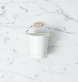 Teeny Tiny White Bucket for Doll's House or Very Tidy Mice - 2""