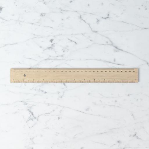 Mercurius Wooden Foot Long Ruler - cm + in
