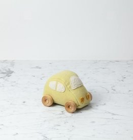 Ouistitine Handmade Soft Car with Wheels - Yellow