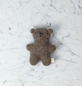 Ouistitine Handmade Wool Soft Gentle Bear - Brown Beige