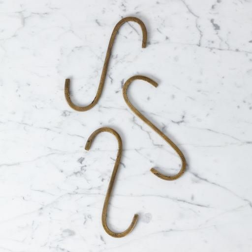 Oversized Rough Hewn Brass S Hook - 6 - Individual