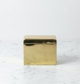 "Brass Storage Box with Hinged Lid - 6 1/4"" x 3 1/2"" x 5 1/4"""