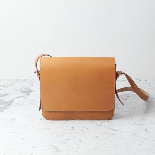 Ruitertassen Natural Leather Shoulder Bag