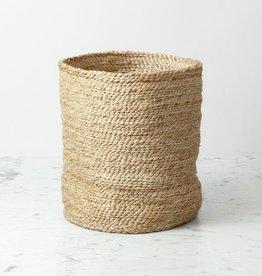 "Natural Jute Cylinder Storage Basket - 11"" x 10"