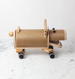 Wooden Riding Hippo with Storage Rump