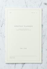 "Kartotek Simple Danish Monthly Planner Notebook - 7"" x 10"""