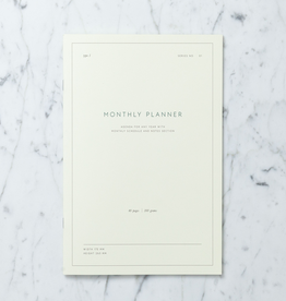 "Kartotek Simple Danish Monthly Planner Notebook - 7"" x 10"""