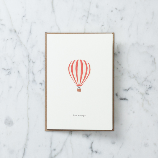 Kartotek Bon Voyage Balloon Card with Envelope