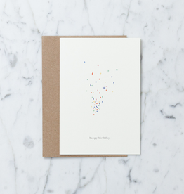 Kartotek Happy Birthday Confetti Card with Envelope