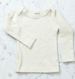 Mabo Kids Organic Cotton Long Sleeve Tee Shirt - Natural - 3 Month