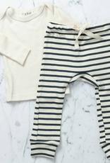Mabo Kids Organic Cotton Long Sleeve Tee Shirt - Natural - 2/3 Year