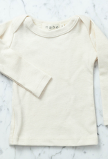 Mabo Kids Organic Cotton Long Sleeve Tee Shirt - Natural - 2/3 Year