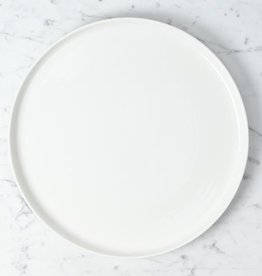 Zangra Belgian Porcelain Serving Plate - White - 13""